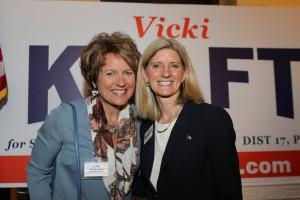 Liz and VK smiling