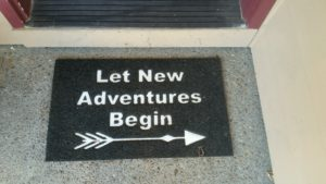 New Adventures doormat